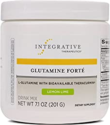 Integrative Therapeutics - Glutamine Forté - L-Glutamine with Bioavailable Theracurmin - Lemon Lime Flavor - 7.1 oz