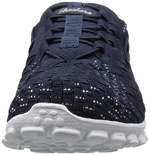 888222896898 - Skechers Sport Women's EZ Flex 2 Tada Fashion Sneaker, Navy/Silver, 10 M US carousel main 3