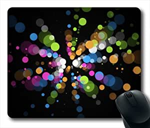 Color Dots Oblong Shaped Mouse Mat by runtopwell