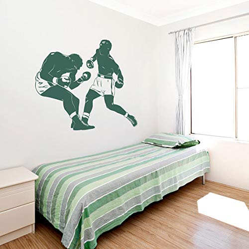 Boxing Match Wall Decal Newly Arrivals Sports Room Wall Sticker Boxer Decals Wall Art for Men Teens Bedroom Home Decor 46X42