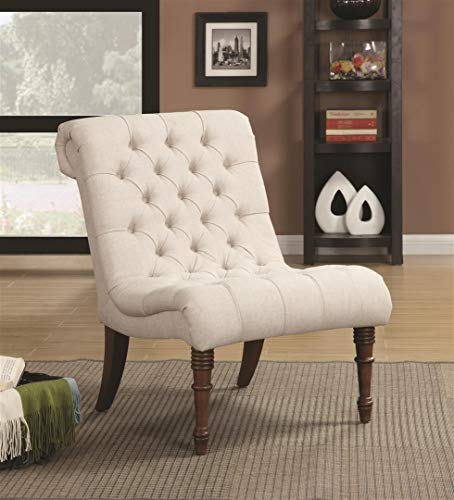 Farmhouse Accent Chairs Armless Curved Accent Chair Oatmeal farmhouse accent chairs