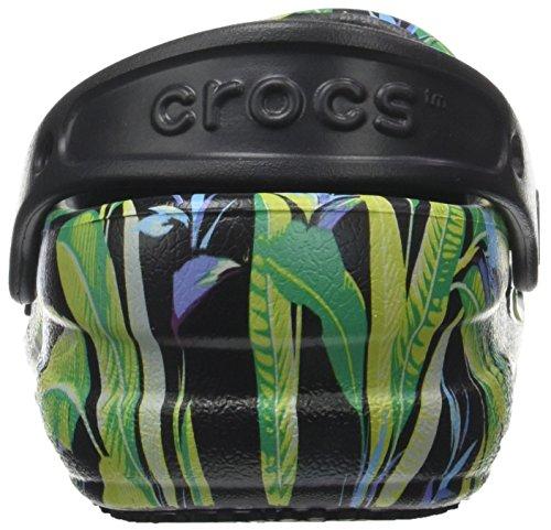 Crocs Bistrogrphicclg, Zuecos Unisex Adulto Negro (Black/parrot Green)