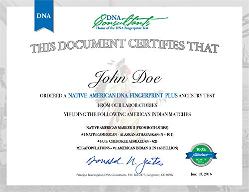 Native American DNA Fingerprint Plus Test by DNA Consultants (Image #1)