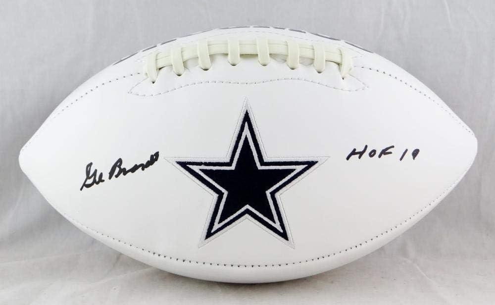 Gil Brandt Autographed Dallas Cowboys Logo Football w//HOF Beckett Auth