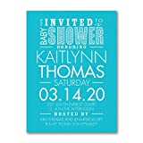 525pk Little Typography - Baby Shower Invitation-Baby Shower Invitations