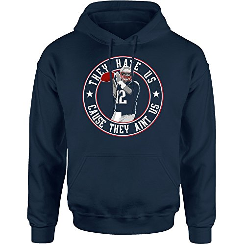 They Hate Us New England Fans Hoodie (L)