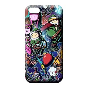 iPhone 5 5s Abstact Hard Snap On Hard Cases Covers mobile phone skins Adventure Time Zelda