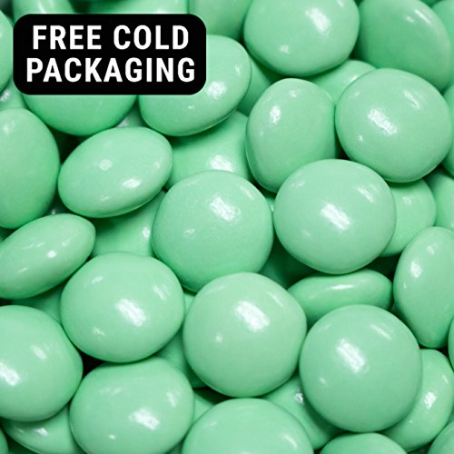 Green Candy Regular Size Milk Chocolate Minis 2lb (Free Cold Packaging)