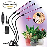 FancyGoo Plant Grow Lamp, LED Grow Light for Indoor Plants, 27W 54 LED Bulbs Timing Plant Grow Lights with Red, Blue Spectrum, 5 Dimmable Levels, 3/6/12H Timer, USB Charger