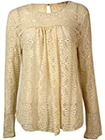 Rachel Roy Women's Long Sleeve Lace Blouse