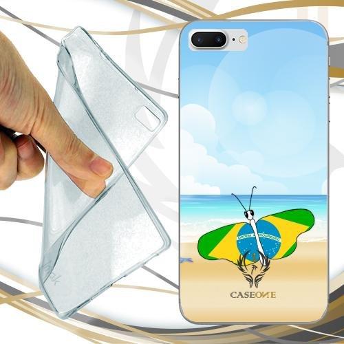 CUSTODIA COVER CASE CASEONE BUTTERFLY BRASIL PER IPHONE 7 PLUS