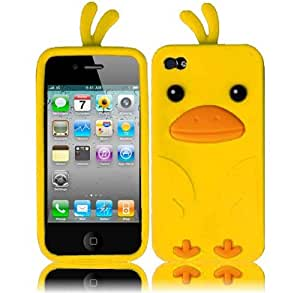 Funny Duck Silicone Jelly Skin Case for iPhone 5 5sG/4GS - Yellow