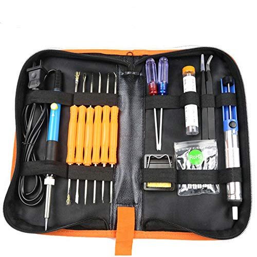 Ocamo 60W Electric Soldering Iron Tools Kit with Adjustable Temperature 806-110V [American standard plug] tool kit by Ocamo