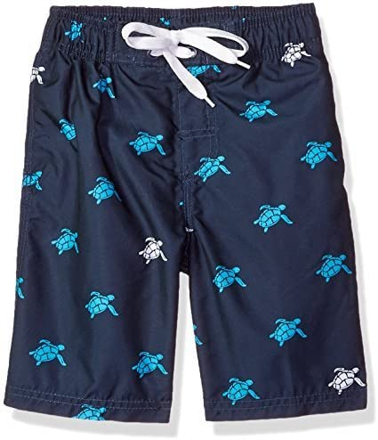 Toddler Boys' Terrapin Turtle Quick Dry Beach Board Shorts Swim Trunk Navy 2T [並行輸入品]