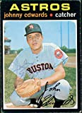 Signed Edwards, Johnny (Houston Astros) 1971 TCG Baseball Card in Black pen. (Very light Signature) autographed
