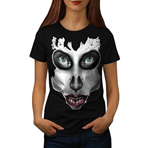 [Sugar Skull Make Up Beauty Face Women NEW S T-shirt | Wellcoda] (Sugar Skull Costume Tumblr)