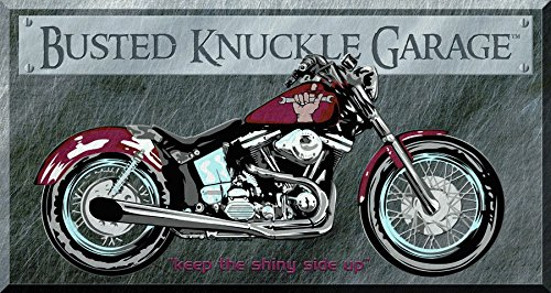 Busted Knuckle Bike Tin Sign 16 x 9in