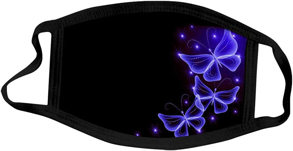 Erwachsene Ohrschlaufe Atmungsaktiv Schmetterlingsdruck Mundschutz Wiederverwendbar Baumwolle Schal 5 ST/ÜCK