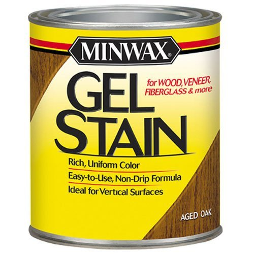 Minwax 260204444 Interior Wood Gel Stain, 1/2 pint,  Aged Oak (Stain Doors Oak)