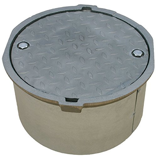 Morrison Bros. 418-1000AM Manhole Plain Cover/Water Tig, 18'' x 12'' by Morrison Bros. Co.