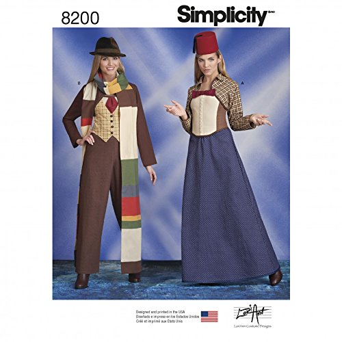 Doctor Who Costume Patterns (Simplicity Ladies Sewing Pattern 8200 Doctor Who Themed Costumes)