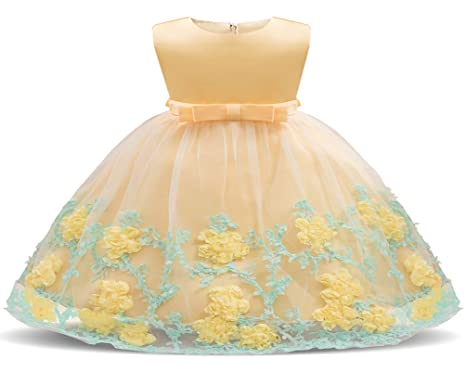 a377f329784d Pageant Dresses for Girls Baby Bridesmaid Wedding Party Dress Round Neck  Sash Satin Cute Elegant Infant
