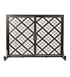 Cheap McCormick Celtic Fireplace Screen, Small – 38 L x 13.5 W x 31.25 H – Bronze