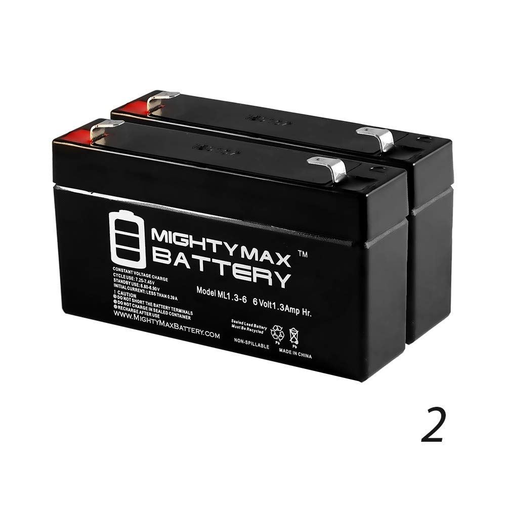 Mighty Max Battery 6V 1.3AH SLA Battery Replaces GE Simon XT Panel Security - 2 Pack Brand Product
