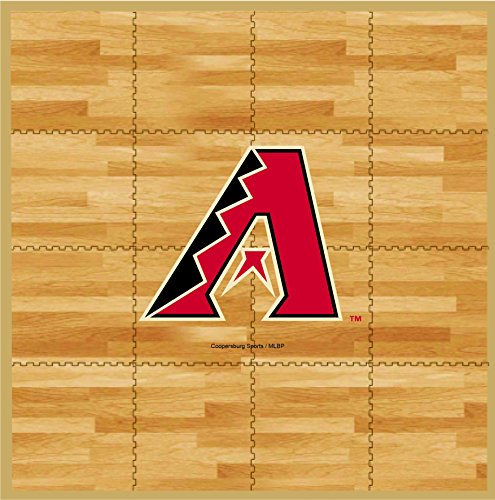 MLB Arizona Diamondbacks MLB 8-foot by 8-foot Fan Floor, Tan, 8-foot x 8-foot