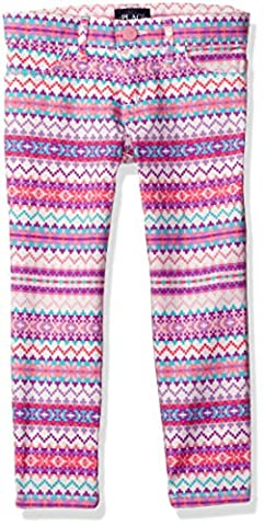 The Children's Place Girls' Big Girls' Stretch Twill Jegging, Fair Isle/Pink/White, 10