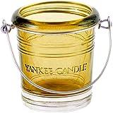 Yankee Candle Bougeoir en verre, jaune
