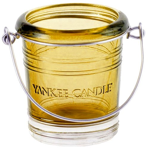 YANKEE CANDLE 1285751 Yellow Bucket Porta Sampler, Vetro, Teal, 5.8x0.4x4.5 cm