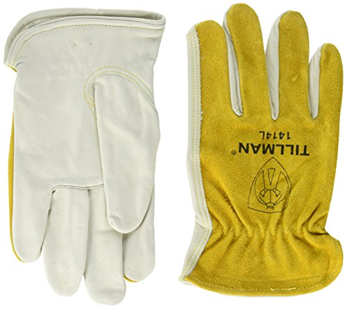 (Tillman 1414 Top Grain/Split Cowhide Drivers Gloves - Large)