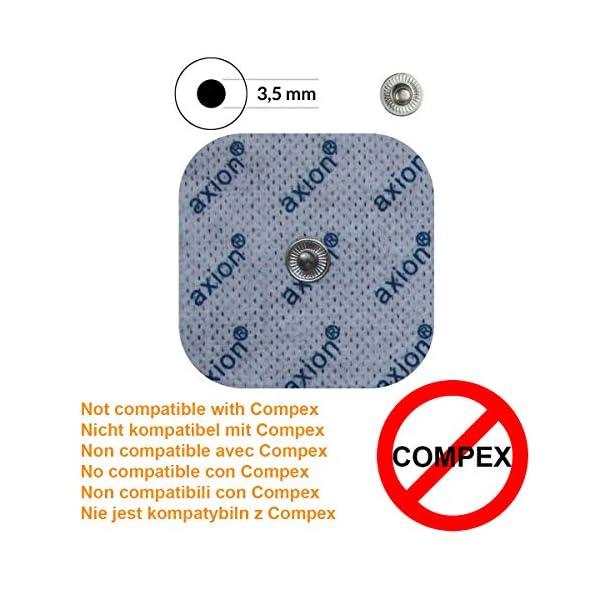 axion - Set di 16 elettrodi 8 da 10x5 cm e 8 da 5x5 cm compatibili con dispositivi BEURER & SANITAS elettrostimolatori con attacco a bottone da 3,5 mm 2 spesavip