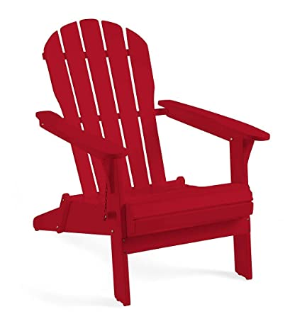 Superieur Wooden Adirondack Chair   Red Paint 29 W X 36.5 D X 34.25 H