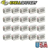 20pc Exell 411A Alkaline 15V Battery Replaces NEDA 208, 10F20, BLR121