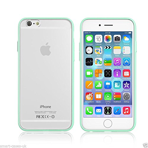 Iphone 6 plus 6s plus (5.5 inch) Silicon Bumper Transparent Baby Blue by G4GADGET®