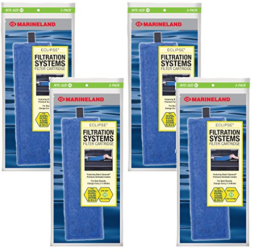 Marineland Rite-Size Cartridge H - 12 Total Cartridges (4 Packs with 3 per Pack) -