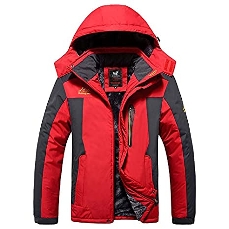 ICCZANA Men's Mountain Waterproof Ski Jacket Windproof Rain Jackets Plus Size