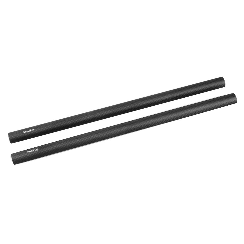 SmallRig 15mm Carbon Fiber Rods (12 Inch) for 15mm Rods Clamps Camera Rail Support System, Follow Focus, Matte Box, Shoulder Pad, Lens Support - 851 by SMALLRIG