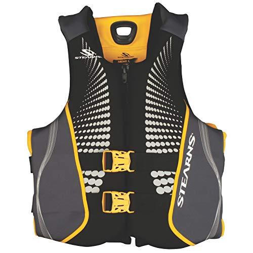 (Stearns Men's V1 Series Hydroprene Life Jacket, Green/Yellow,)