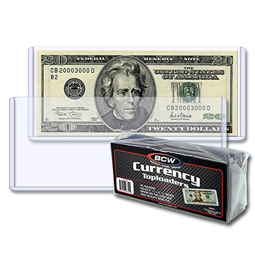 BCW Currency Topload Holder | Regular Bill | 25-Count