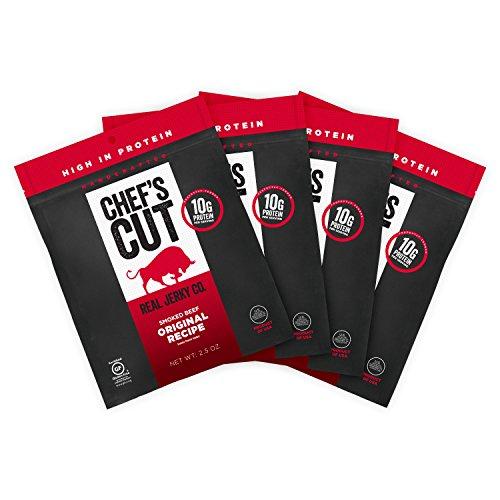 Chef's Cut Tender Real Steak Jerky, Original Recipe, 2.5 Ounce (Pack of 4)