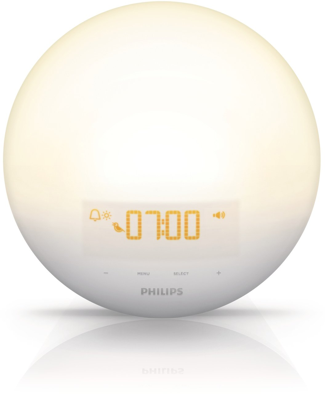 Philips Wake-Up Light with Sunrise Simulation alarm clock and Sunset Fading Night Light, White HF3510 by Philips (Image #1)