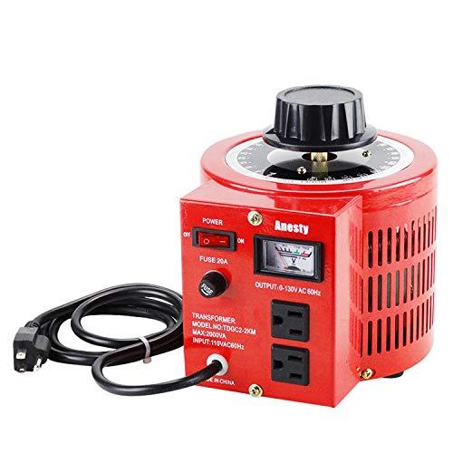 Anesty Auto Transformer AC Variable Voltage Converter Transformer Regulator 2KVA 0-130V (L) ()