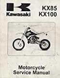 2001 KAWASAKI MOTORCYCLE KX85 & KX100 SERVICE MANUAL 99924-1265-01 (887)