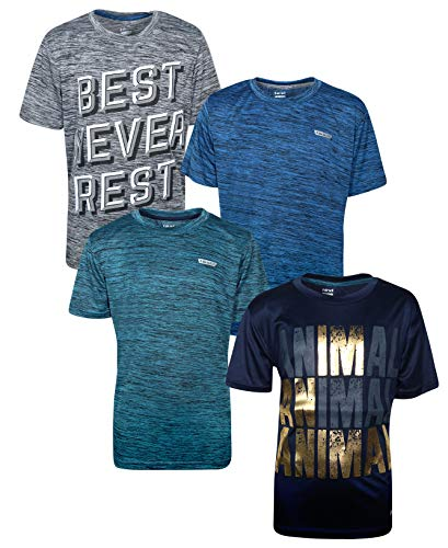 Hind Boys Performance Quick Dry Athletic Sports T-Shirt (4-Pack) (Best Never Rest, X-Large / -