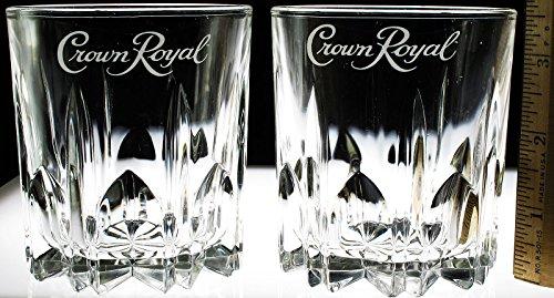 Crown Royal Tumbler/Bar Glasses Star Bottom (SET OF 2 - 10 oz.)