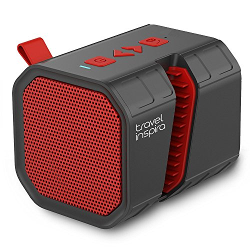Travel Inspira Portable Wireless Speaker, 5W Mini Bluetooth Speaker Stand for iPhone iPad Android Smartphone Tablet Support Speakerphone TF Card and Over 10 Hours Long Time Playback