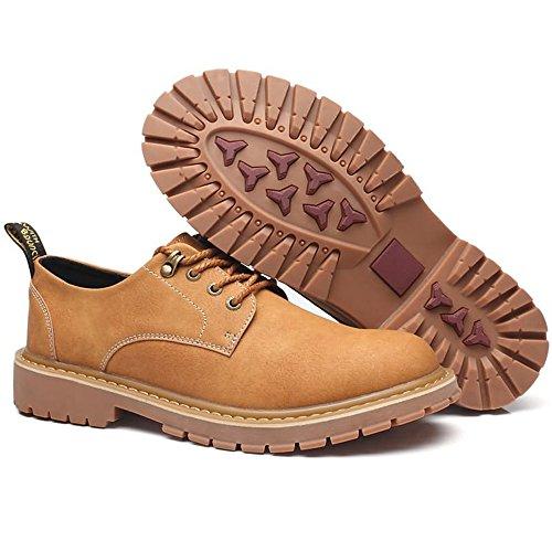 stringate Giallo basse dimensione stringate Khaki alto 2018 Xujw tacco Scarpe 44EU di da uomo Colore shoes Scarpe Oxford piatte wIaU4Yq
